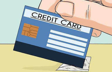Using a credit card to remove the residue