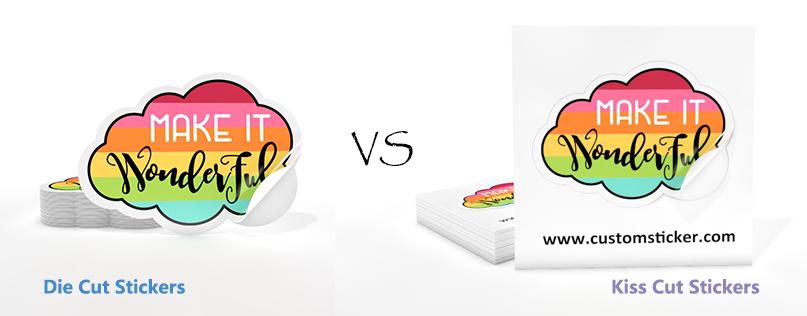 die-cut stickers VS kiss-cut stickers