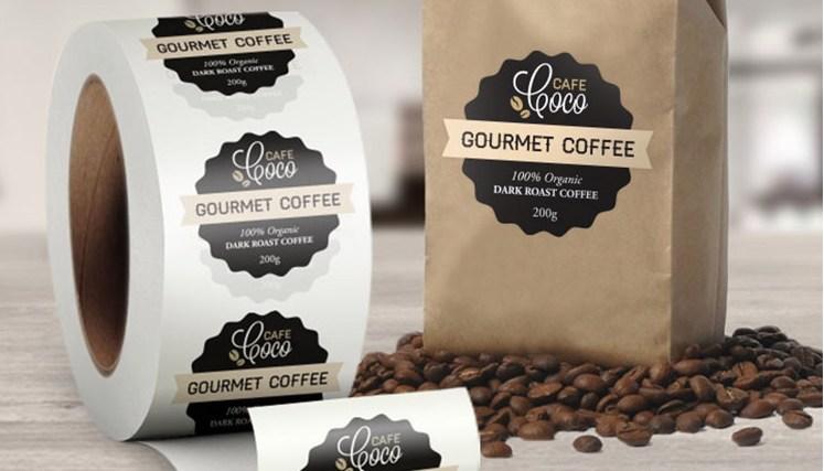 Coffee Die Cut Custom Labels