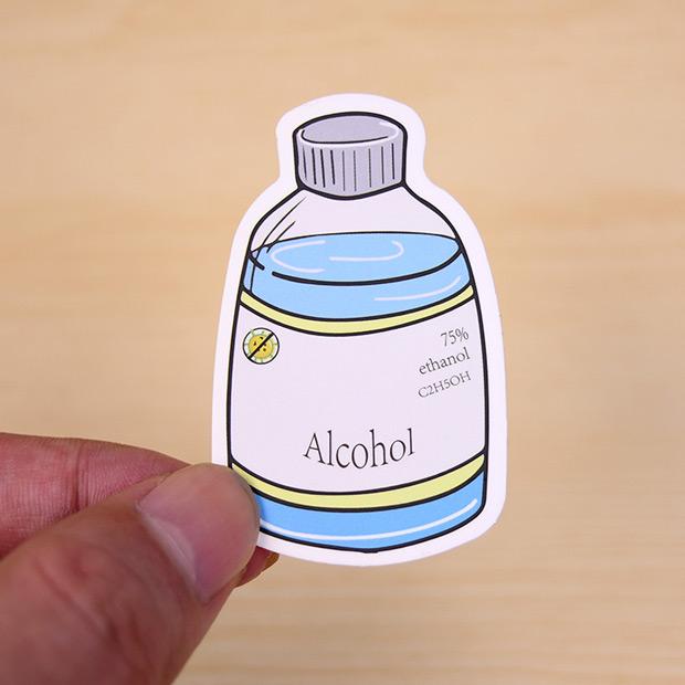 alcohol custom made stickers